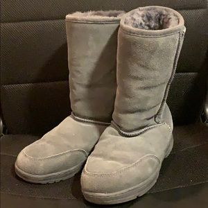 Grey Suede BearPaw Boots